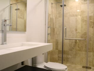 wrkarquitectura Modern style bathrooms Marble White