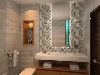 Интерьер квартиры в стиле лофт во Владикавказе: Ванные комнаты в . Автор – Мастерская архитектора Аликова