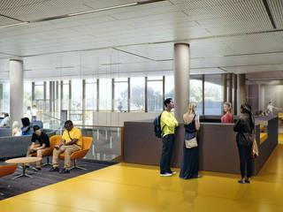 NC Student Center Modern study/office by Merêces Arch Viz Studio Modern