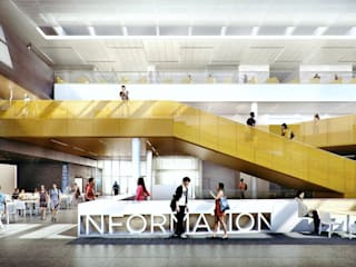 NC Student Center: modern Study/office by Merêces Arch Viz Studio