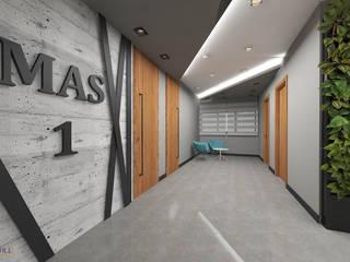 Industrial style office buildings by nihle iç mimarlık Industrial