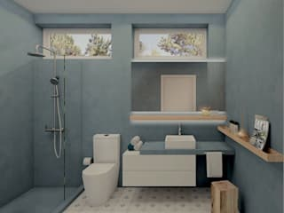 MRS - Interior Design Bagno moderno Blu