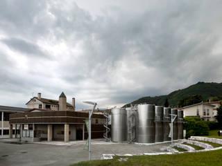 Vista della Cantina Bortolomiol dal Parco della Filandeta : Gastronomia in stile  di Studio Architetto Wally Tomé