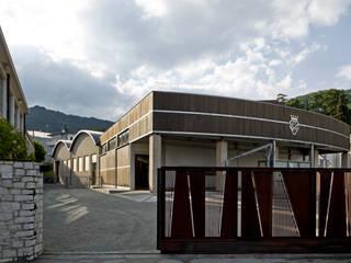 Vista della Cantina dall'ingresso: Gastronomia in stile  di Studio Architetto Wally Tomé