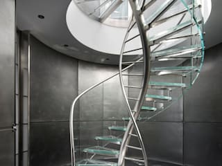 DNA by EeStairs® EeStairs | Stairs and balustrades Modern corridor, hallway & stairs Glass