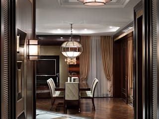 А3 ARCHITECTURAL BUREAU Eclectic style corridor, hallway & stairs