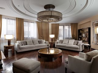 А3 ARCHITECTURAL BUREAU Eclectic style living room