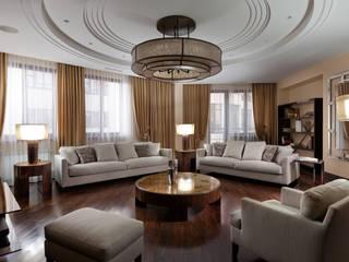 Частные апартаменты.: Гостиная в . Автор – А3 ARCHITECTURAL BUREAU