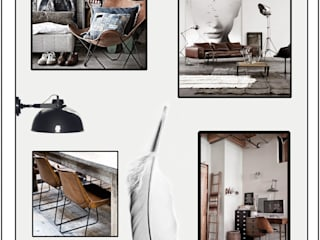 Moodboard industrieel:   door Burosannies