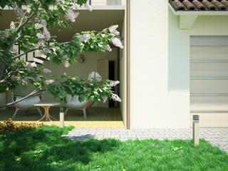 Progettazione villetta a schiera Giardino moderno di Proreal3D Moderno