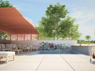 Concept Resort Sedi per eventi moderne di Proreal3D Moderno