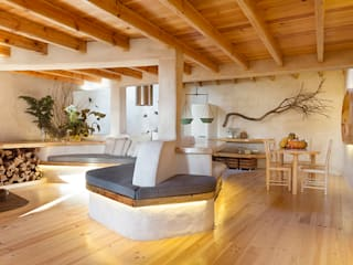 pedro quintela studio Living room Wood effect