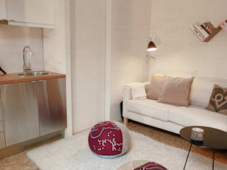 minimalistische Wohnzimmer von Plano Humano Arquitectos