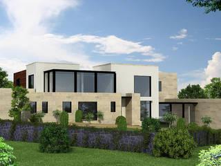 Casa Monte Carpatos Salones modernos de Boué Arquitectos Moderno