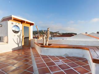 pedro quintela studio Balcon, Veranda & Terrasse ruraux