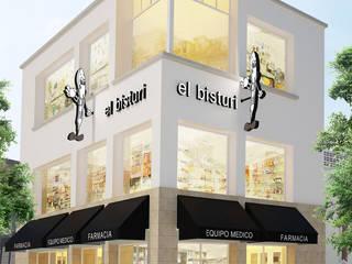 El Bisturi Guadalajara Espacios comerciales de estilo moderno de Boué Arquitectos Moderno