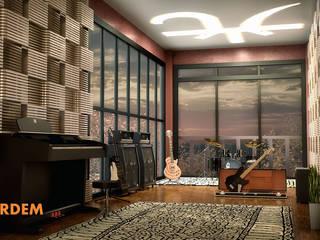 Hakan Özerdem - Mimari Proje Görselleştirme ve 3D Tasarım – Müzik Stüdyosu - Aachen:  tarz Bar & kulüpler