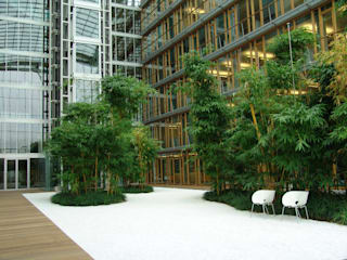 Modern office buildings by MK2 international landscape architects Modern