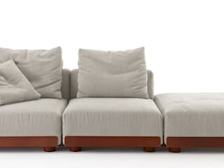 Asami corten iron Sofa:   by Livingfurnish Ltd