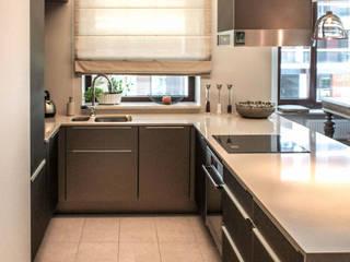 AS-MEB Cocinas de estilo moderno Vidrio Beige