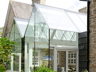 Structural Glass Conservatory, Cornwall Modern conservatory by The Bazeley Partnership Modern Glass