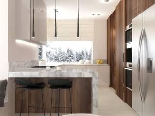 Projektowanie kuchni - projektanci wnętrz Intellio designers od Intellio designers