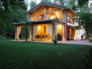 Restauro Vecchio Casale Balcone, Veranda & Terrazza in stile moderno di Zago Studio Architects Moderno