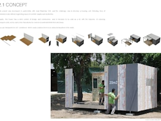 TreeHouse Spot 미니멀리스트 주택 by Plano Humano Arquitectos 미니멀