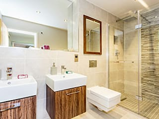Old Police Station, Harrogate - Show House Bathroom:  Bathroom by Rachel McLane Ltd