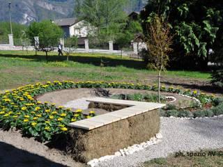 Installazione verde 'Scambi di luce' Giardino rurale di SPAZIO AV ARCHITETTURA VERDE AMBIENTE ARTE Rurale