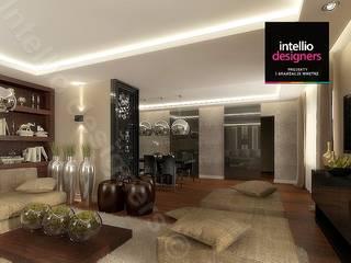Salony w pięknych domach od Intellio designers