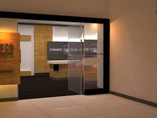 Capco Technologies Pvt Ltd Modern offices & stores by Initios Designs Modern