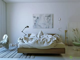 Modern style bedroom by ArqRender Modern
