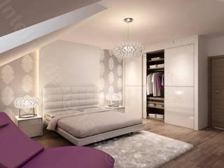 Luksusowe apartamenty - projekty i aranżacje Nowoczesna sypialnia od Intellio designers Nowoczesny
