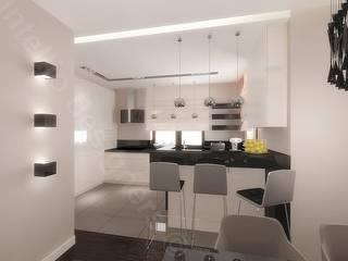 Luksusowe apartamenty - projekty i aranżacje Nowoczesna kuchnia od Intellio designers Nowoczesny