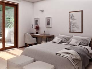 Visualizzazioni interni Camera da letto moderna di PlanimetrieArredate.it Moderno