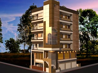 Mr. Rakesh's Residence Modern houses by Initios Designs Modern