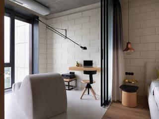 NPL. Penthouse 인더스트리얼 서재 / 사무실 by Olga Akulova DESIGN 인더스트리얼