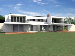 Villa bifamilare: Case in stile  di Zago Studio Architects