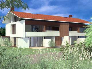 Villa bifamiliare: Case in stile  di Zago Studio Architects