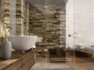 Stanza e Bagno - Melano - Svizzera Bagno minimalista di KRISZTINA HAROSI - ARCHITECTURAL RENDERING Minimalista