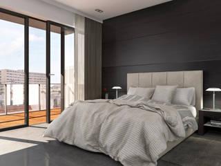 Stanza da letto - Milano Camera da letto moderna di KRISZTINA HAROSI - ARCHITECTURAL RENDERING Moderno