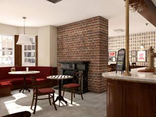 Channings Bar – London Bar & Club in stile classico di KRISZTINA HAROSI - ARCHITECTURAL RENDERING Classico
