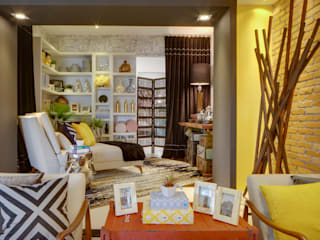 Studio² Modern living room Engineered Wood Yellow