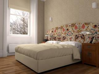 Bedroom Courtfield garden – London Camera da letto in stile classico di KRISZTINA HAROSI - ARCHITECTURAL RENDERING Classico