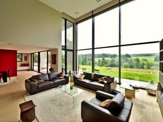 maison paysage: Salon de style de style Moderne par Jean Bodart Architecte