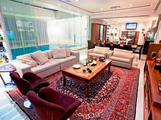 Loft Gourmet Ariane Labre Arquitetura Salas de estar modernas