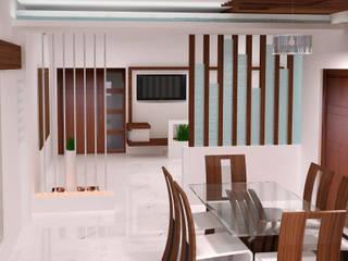 Duplex Residence Modern corridor, hallway & stairs by BAVA RACHANE Modern