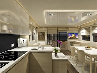 Zona giorno: Yacht & Jet in stile  di Studio Foschi & Nolletti