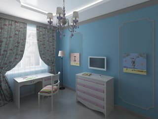 Квартира в Измайлово: Детские комнаты в . Автор – Анна Путенис. Дизайнер и 3D- визуализатор (интерьеры)